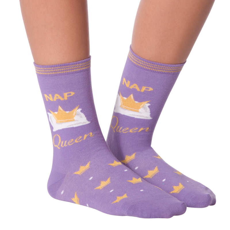 K Bell - Women's Nap Queen Crew Socks