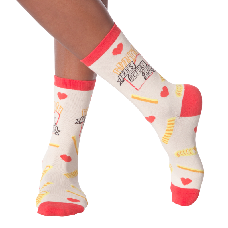 K Bell - Women's Fries Before Guys Crew Socks