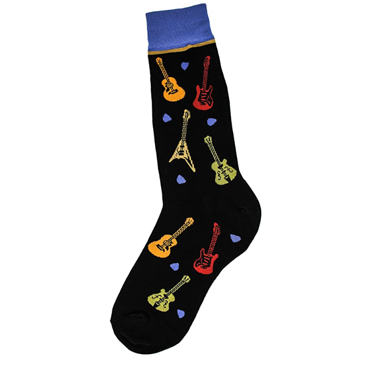 Foot Traffic - MEN'S ALL OVER GUITARS SOCKS