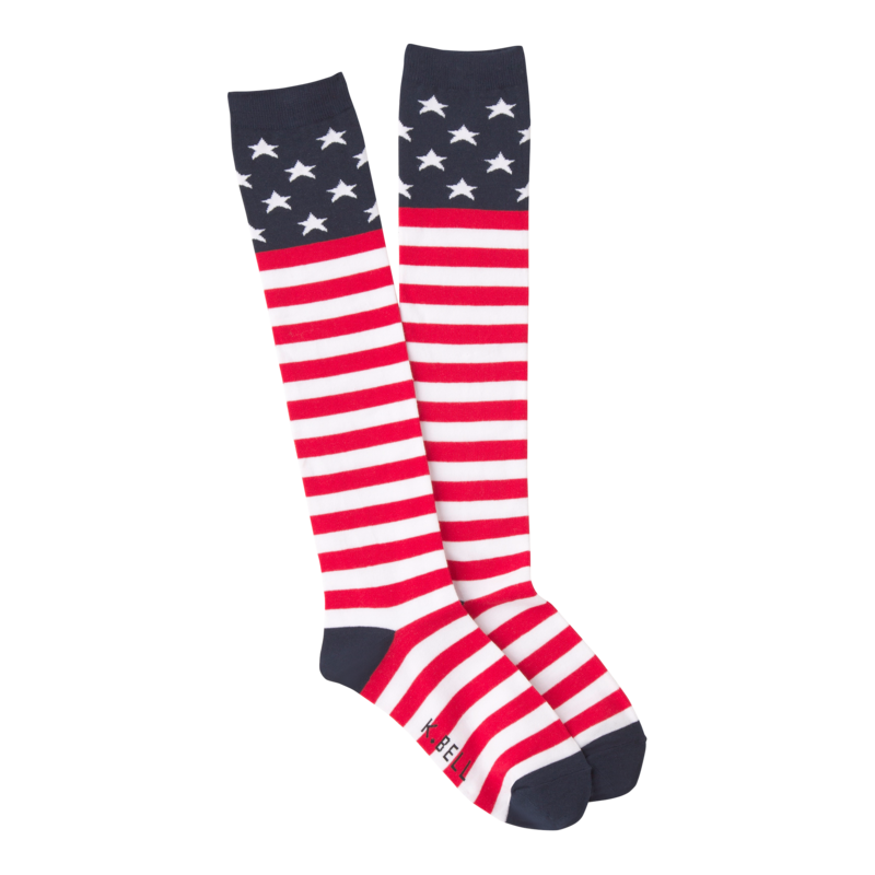 K Bell - Women's American Flag Knee High Socks