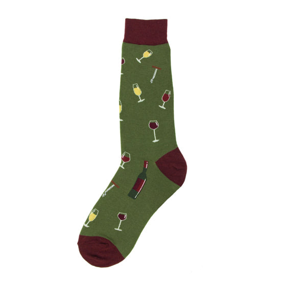Foot Traffic - MEN'S WINE SOCKS