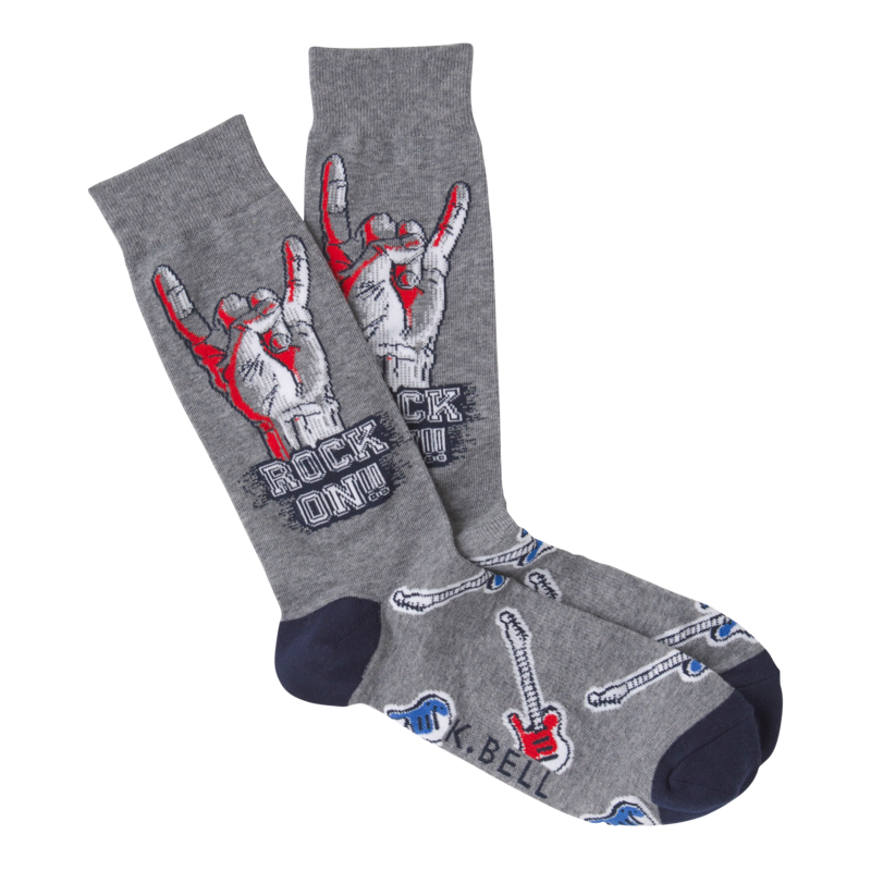 K Bell - Men's Rock On Crew Socks