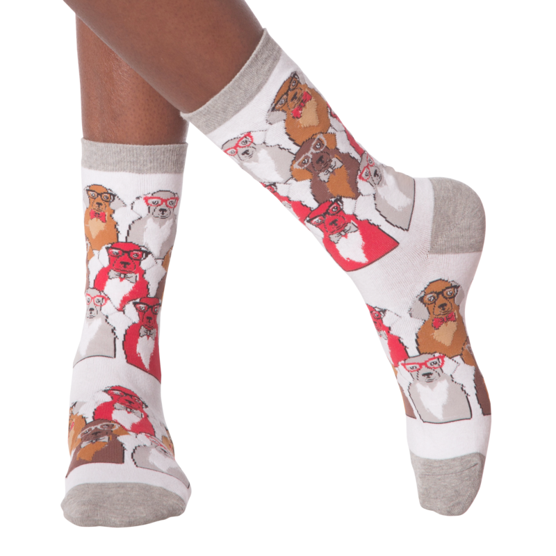 K Bell - Women's Smarty Dogs Crew Socks