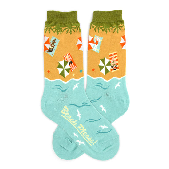 Foot Traffic - BEACH PLEASE WOMEN'S SOCKS
