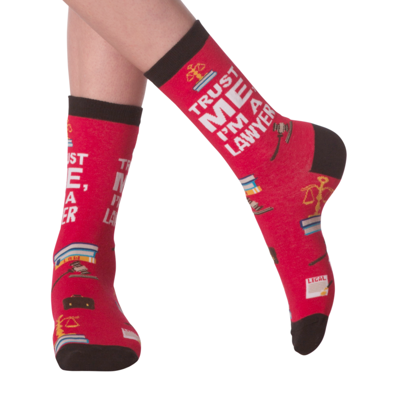K Bell - Women's I'm A Lawyer Crew Socks
