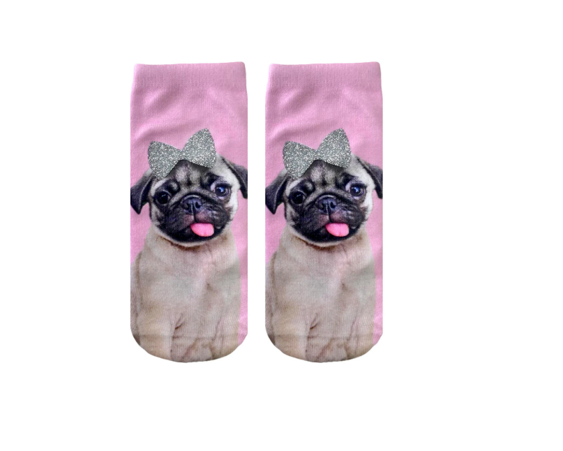 Living Royal - Glitter - Pug with Bow