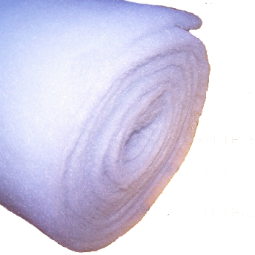 15 Metre Roll 475gsm 14oz Polyester Wadding - 69cm Roll Width