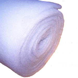 10 Metre Roll 205gsm 6oz Polyester Wadding - 69cm Roll Width