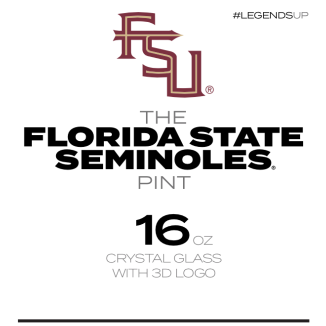 Florida State Seminoles 16 oz Pint