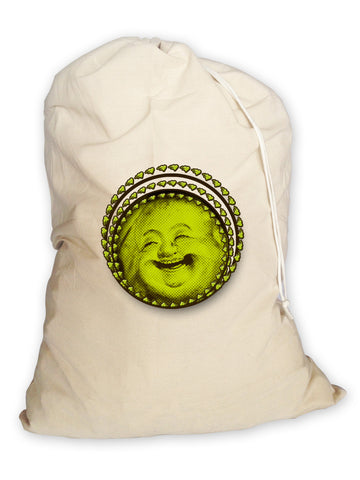 Laundry Bag. Happy Buddha. Eco Laundry Bag. Canvas Bag