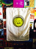 Happy Buddha Laundry Bag. Extra Large 40 x 30 Canvas Bag.