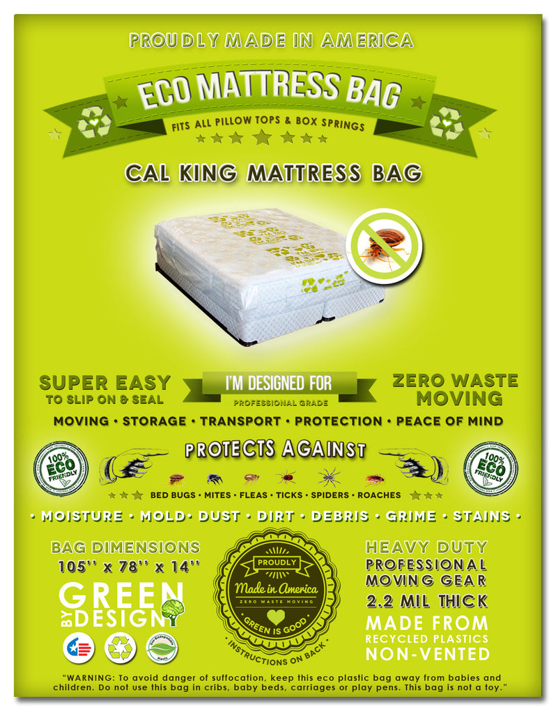cal king and king size mattress protection bag fits all pillow tops and box springs ideal for moving storage and transport