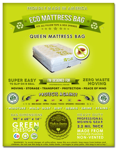 2 Queen or Full Mattress Bags. Ideal for Packing, Moving, Storage and Transportation. Protect your bed from small insects like bed bugs.