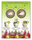 100 Count Extra Large Eco Moving Labels that Grow Flowers When You're Done Moving! Just Plant in Soil!