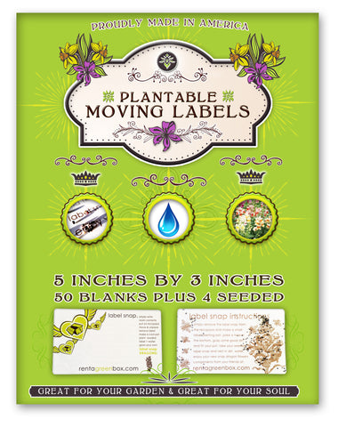 50 Extra Large Eco Moving Labels that Grow Flowers When You're Done Moving! Just Plant in Soil!