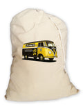 Laundry Bag. Vintage VW Bus Design. Heavy Duty Eco Canvas.