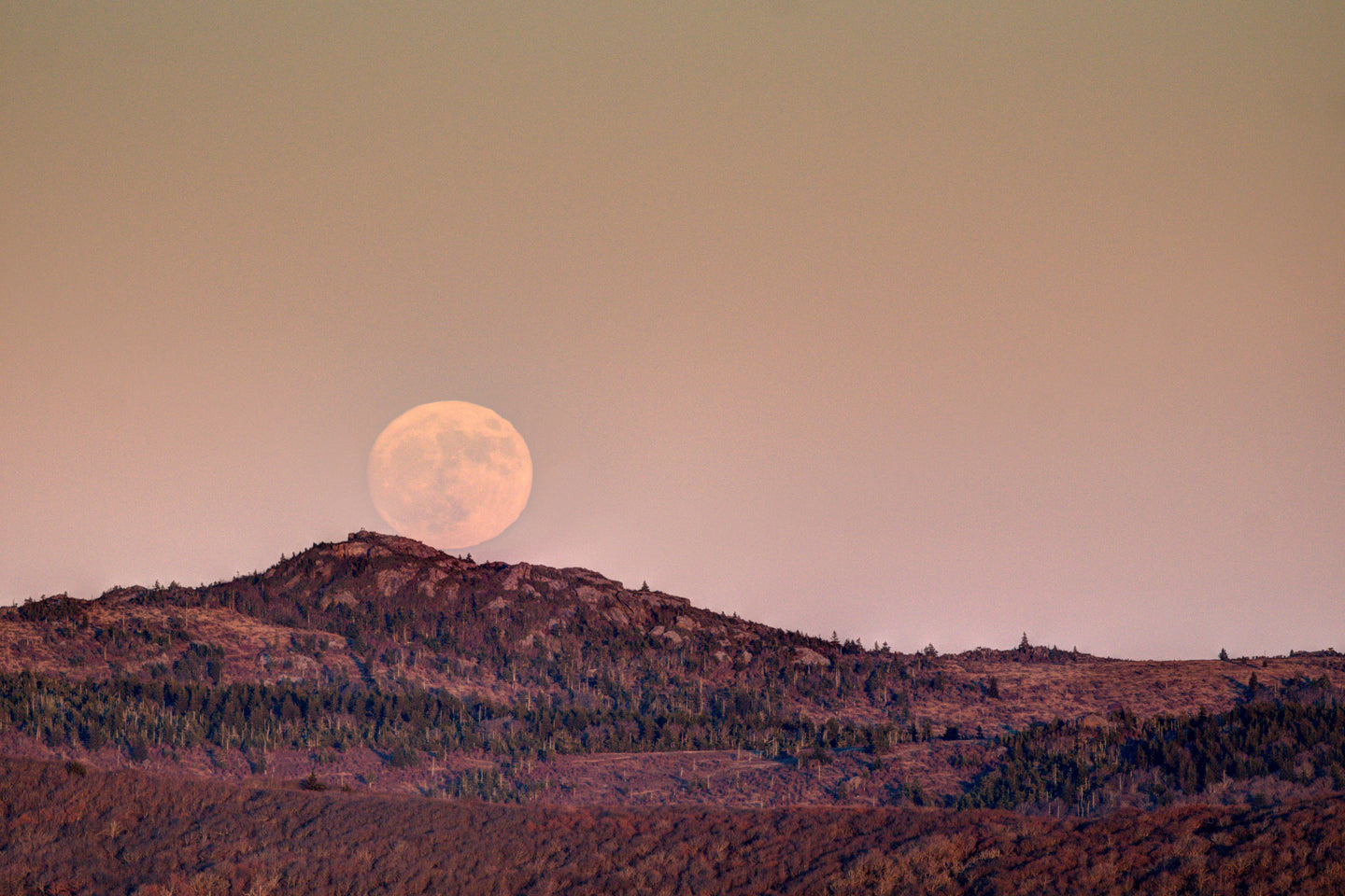 Supermoon Over the Mountains