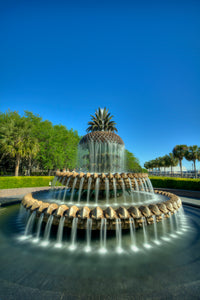 Pineapple Fountain by Day (Portrait)