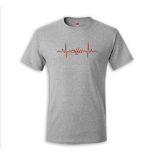 Load image into Gallery viewer, Coffee EKG Tee