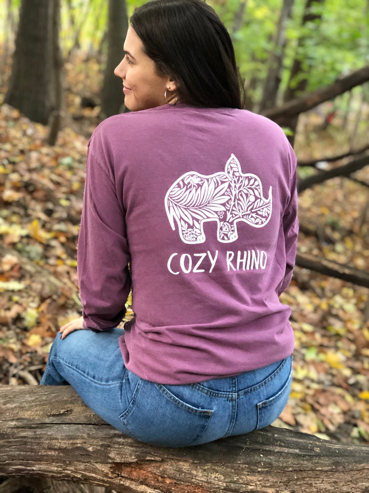 Berry Floral Long Sleeve Tee - Cozy Rhino