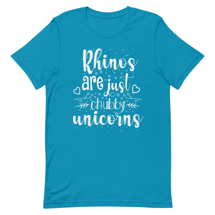 Rhinos are Just Chubby Unicorns Tee - Cozy Rhino