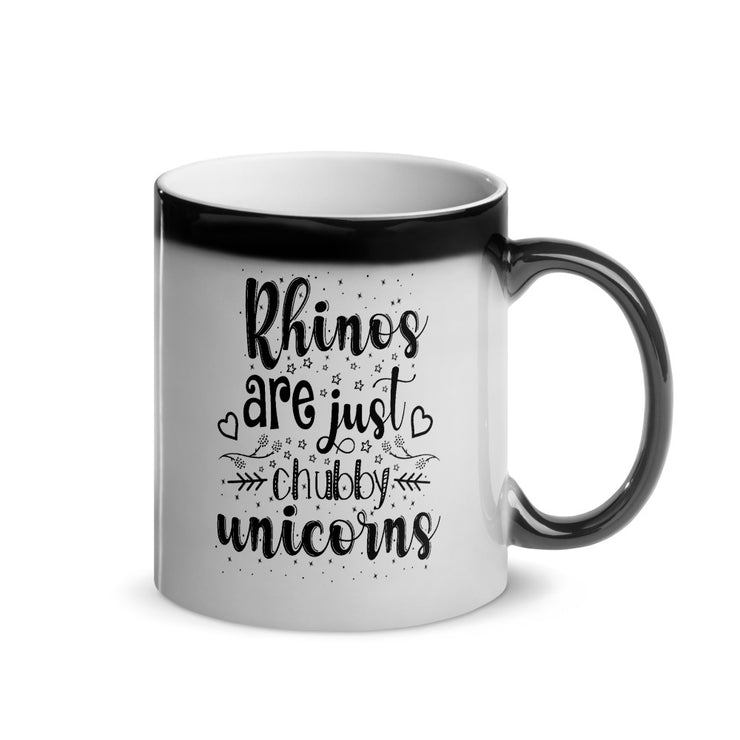 Cozy Magic Mug - Rhinos Are Just Chubby Unicorns - CozyRhino