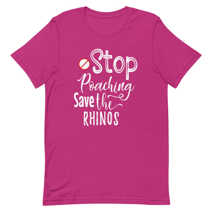 Stop Poaching, Save the Rhinos Tee Shirt - CozyRhino