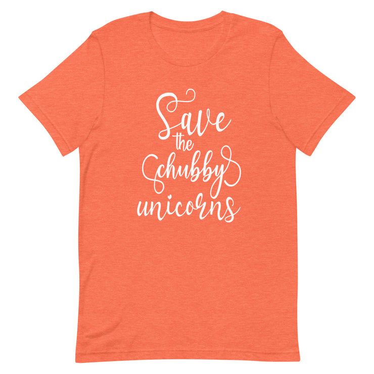 Save the Chubby Unicorns Tee - Cozy Rhino
