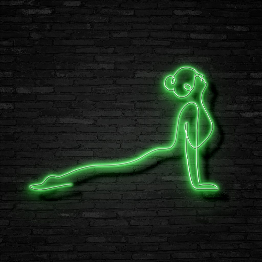 Yoga Pose - Neon Sign