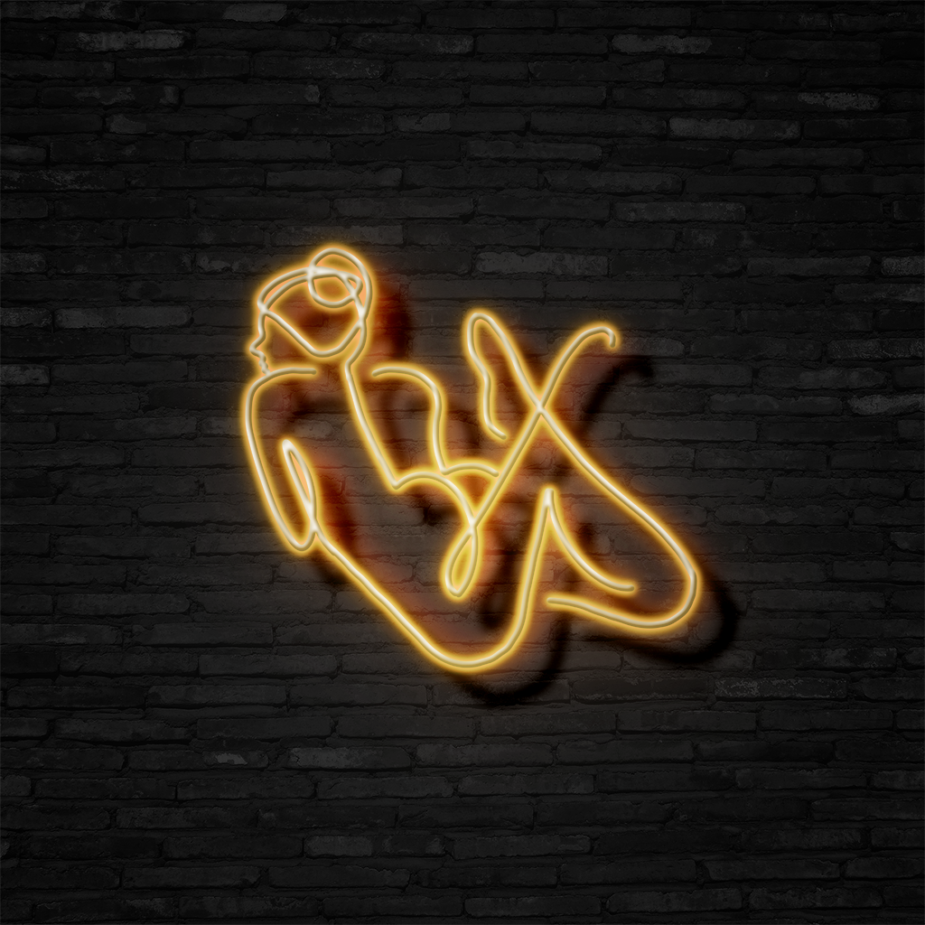 Sun Bathing - Neon Sign
