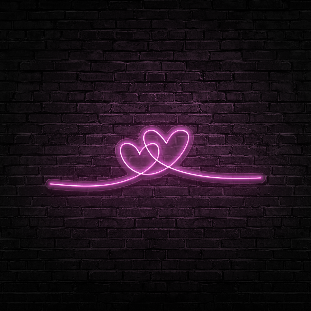 Double Heart - Neon Sign