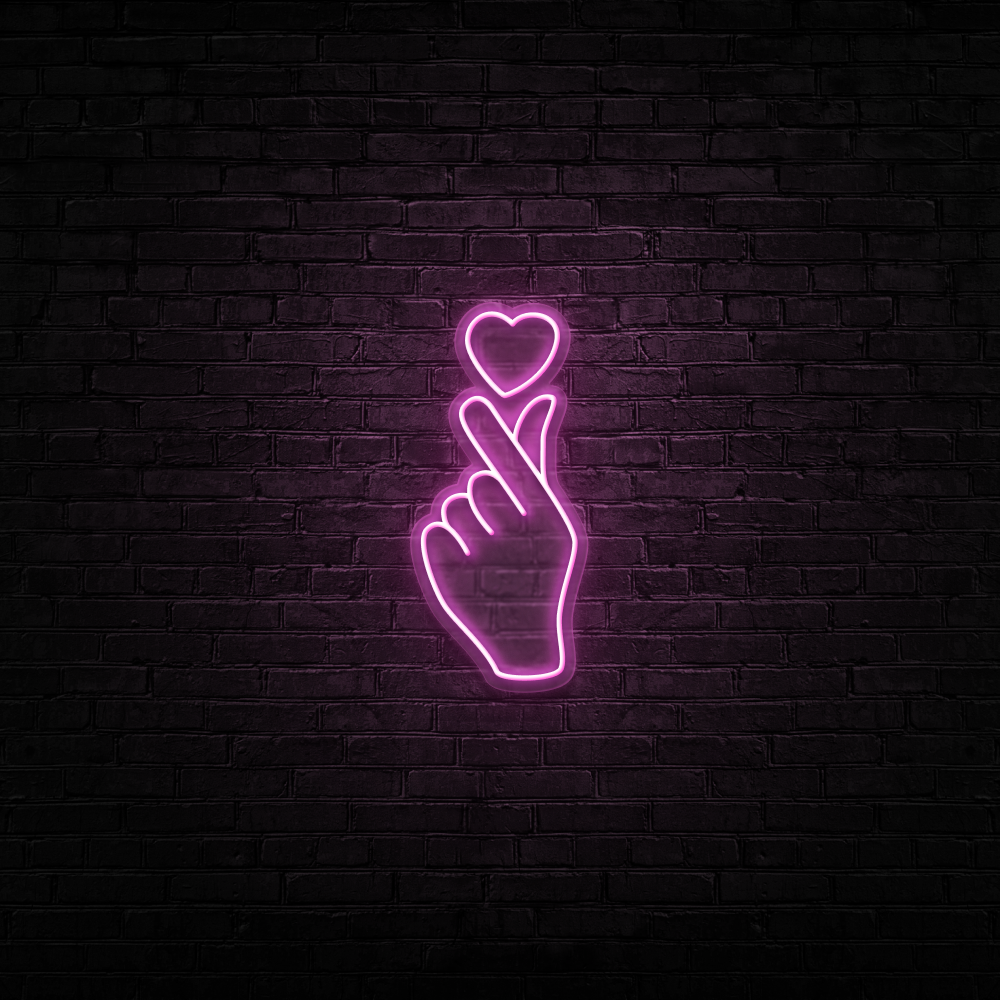 Love At Your Fingertips - Neon Sign