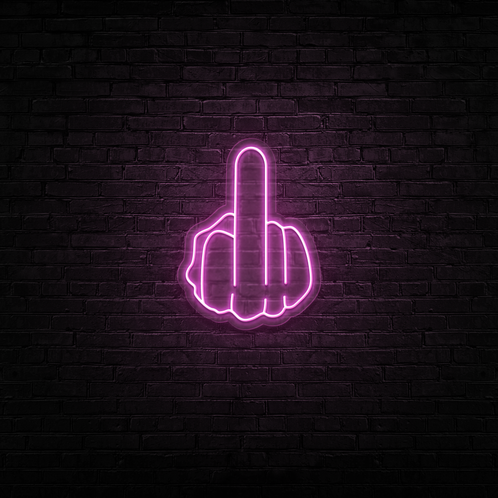 Middle Finger - Neon Sign