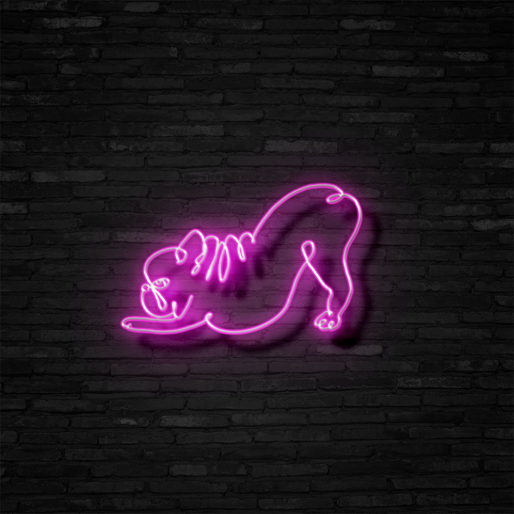 Downward Facing Frenchie - Neon Sign