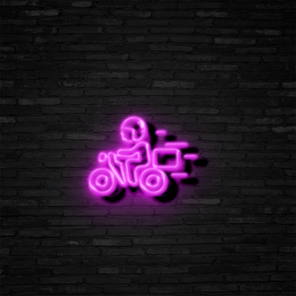 Food Delivery - Neon Sign