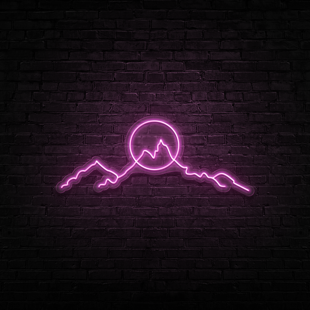 Mountainscape - Neon Sign