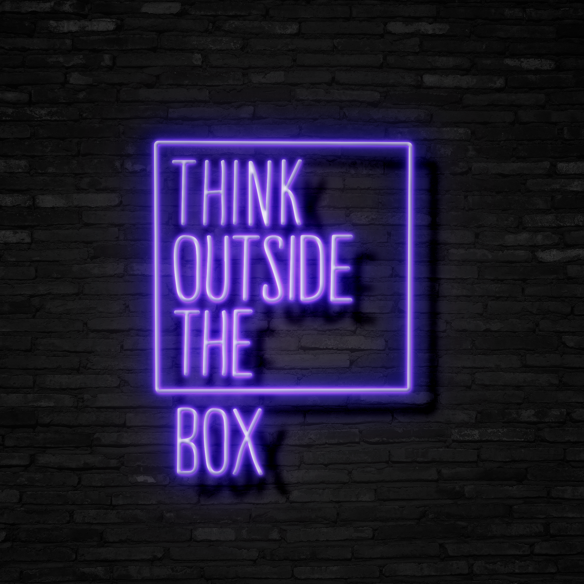 Think Outside The Box - Neon Sign