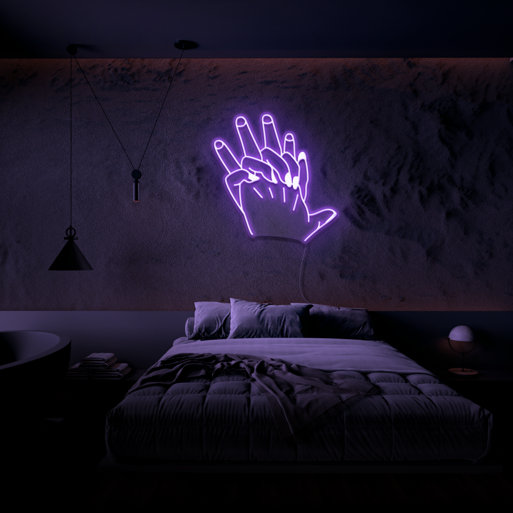 Hand In Hand - Neon Sign