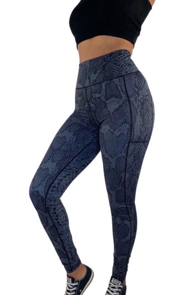 Women's Tall Long Snake Skin Print Legging