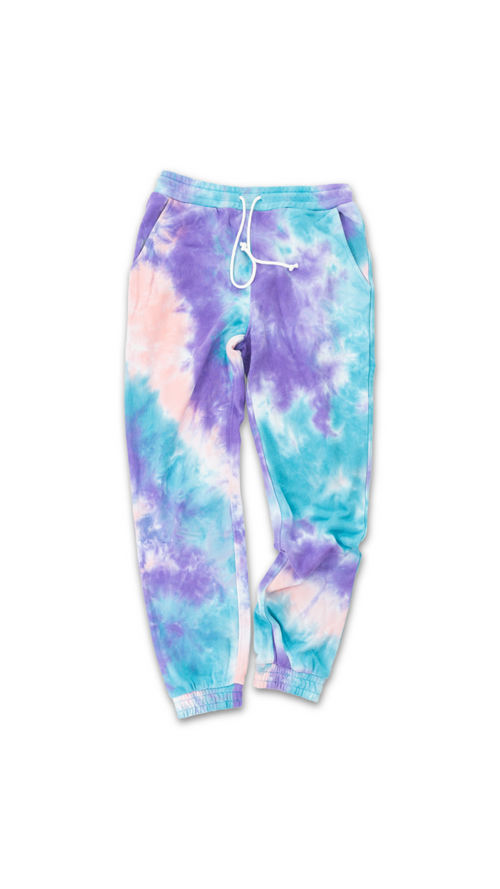 TIE-DYE TRACK PANTS - CANDYFLOSS