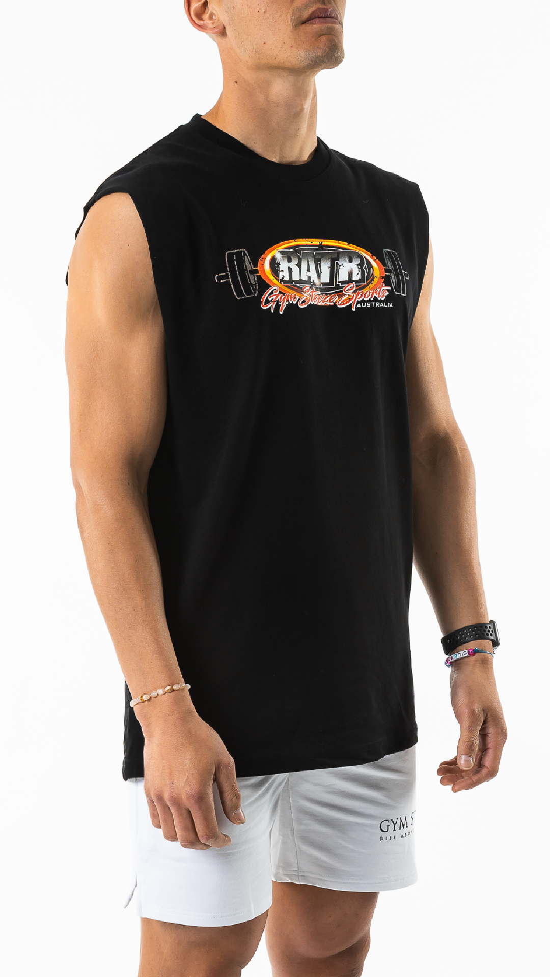 RATR SLEEVELESS TEE - BLACK