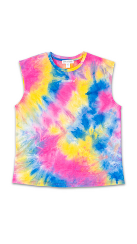 TIE-DYE SLEEVELESS - COTTON CANDY