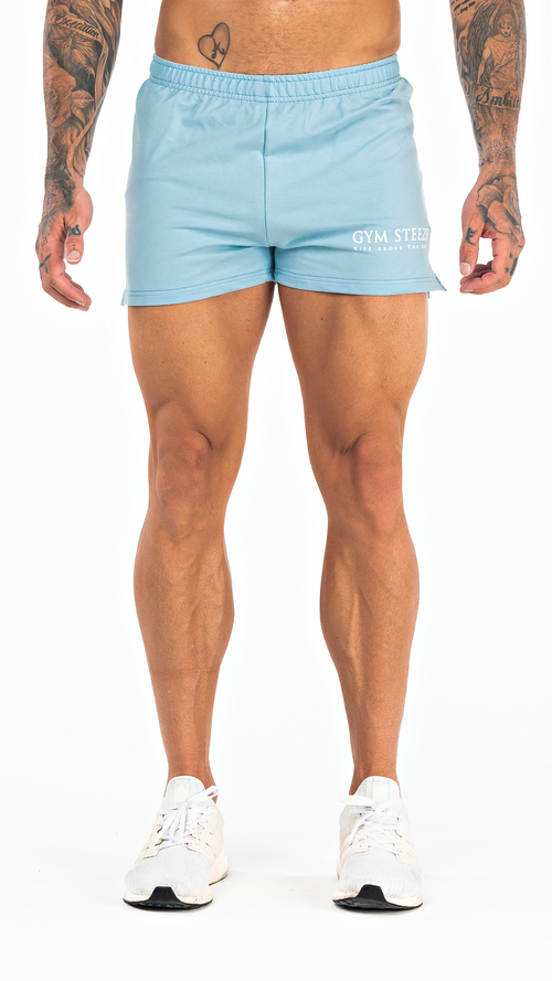 GYM STEEZE SHORT SHORTS - BABY BLUE