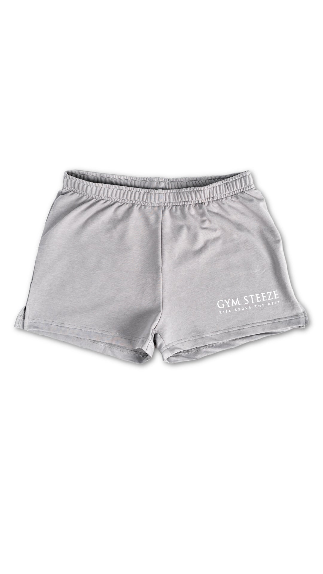 GYM STEEZE SHORT SHORTS - STONE GREY