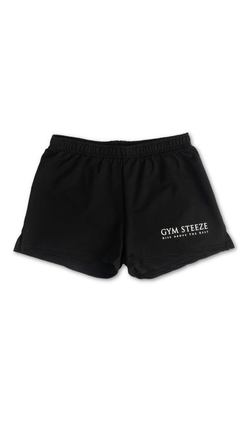 GYM STEEZE SHORT SHORTS - BLACK