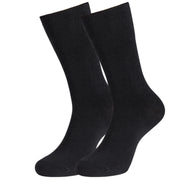 MD Cotton Non-Binding Crew Socks with Seamless Toe and Cushion Sole (2 Pairs)