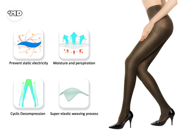 MD 8-15mmHg Comfy Compression Pantyhose Support Stocking