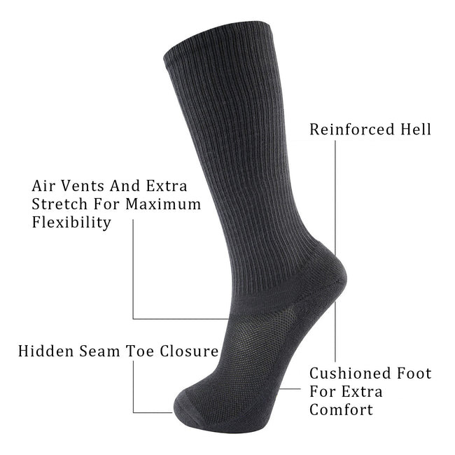 MD 3 pairs cotton cushioned 8-15mmHG over the calf SALES COMPRESSION SOCKS