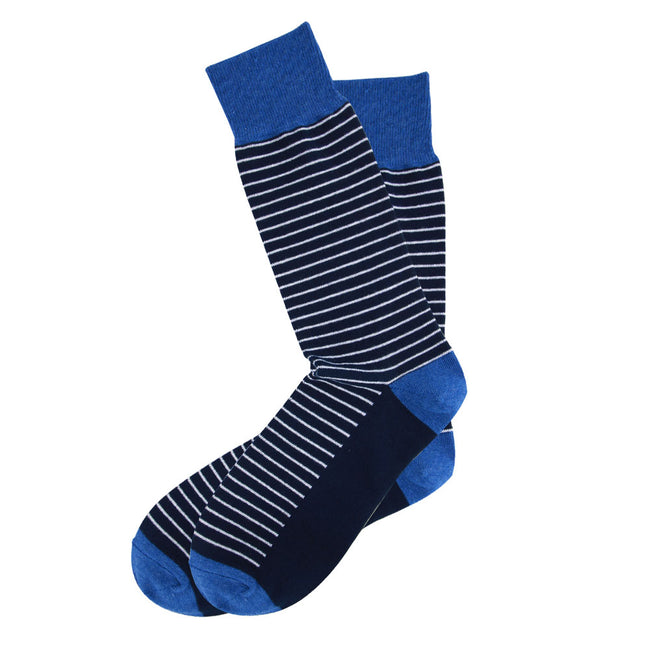 AAS Cotton Welt Colorful Thin Stripe Dress Socks