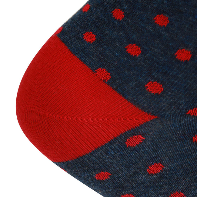 AAS Cotton Dress Socks Dots Crew Socks
